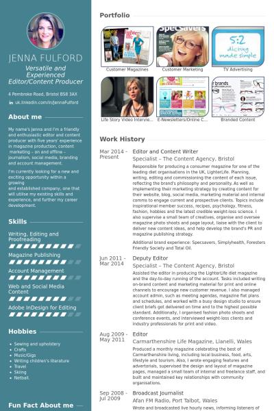 Editorandcontentwriterresume Example Betty Kempa I